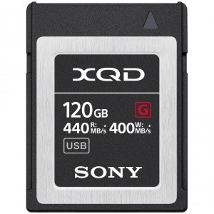 CARTE XQD 120GO SONY G HIGH SPEED R440 W400