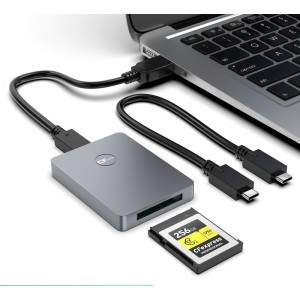 Lecteur cartes CF EXPRESS - Type B - 2 prises Type C et USB - 10Gbps