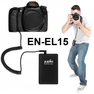 Batterie externe POWERBANK JUPIO pour reflex Nikon utilisant la batterie EN-EL15