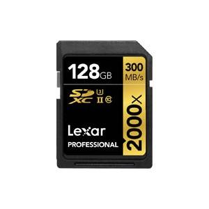 Carte SD 128 GO LEXAR PRO SD XC 2000X CLASS 10 U3